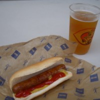 Hot Dog Beer Big Red Smokey from Great American Ballpark Cincinnati 2009 07 11 by Navin75