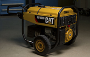 Cat RP3600 generator stand alone garage