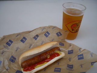 Hot Dog Beer Big Red Smokey from Great American Ballpark Cincinnati 2009... 		<p class=